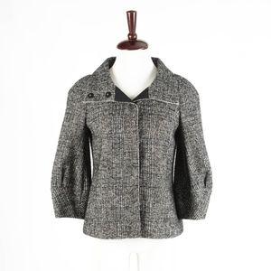 ANN TAYOR –  Tweed Swing Short Coat – Size S